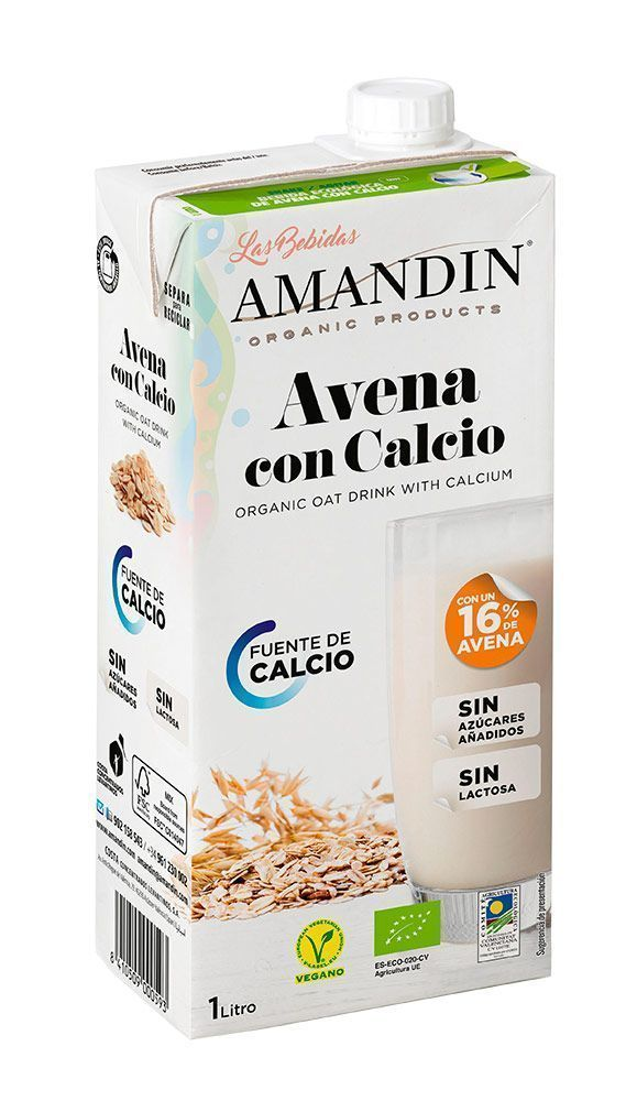 Bebida Avena Calcio, de Amandín