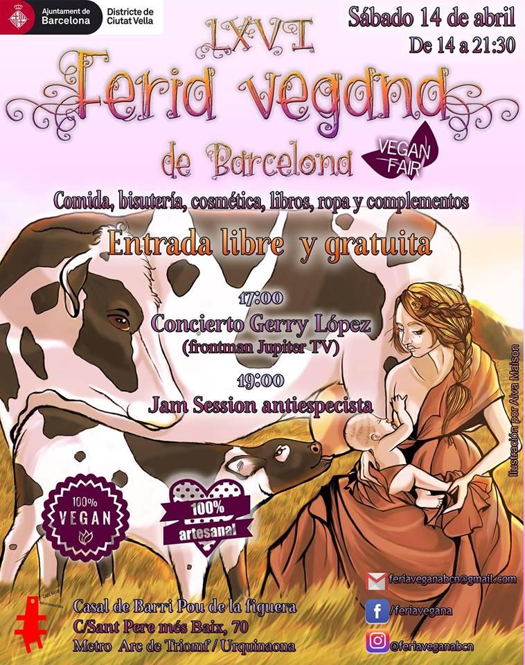 Cartel de Alva Maison para LXVI Feria Vegana de Barcelona