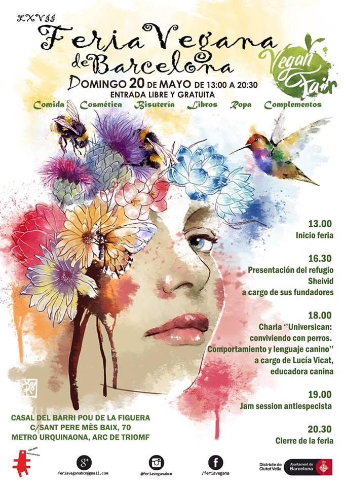 Cartel de Verónica para la LXVII Feria Vegana de Barcelona