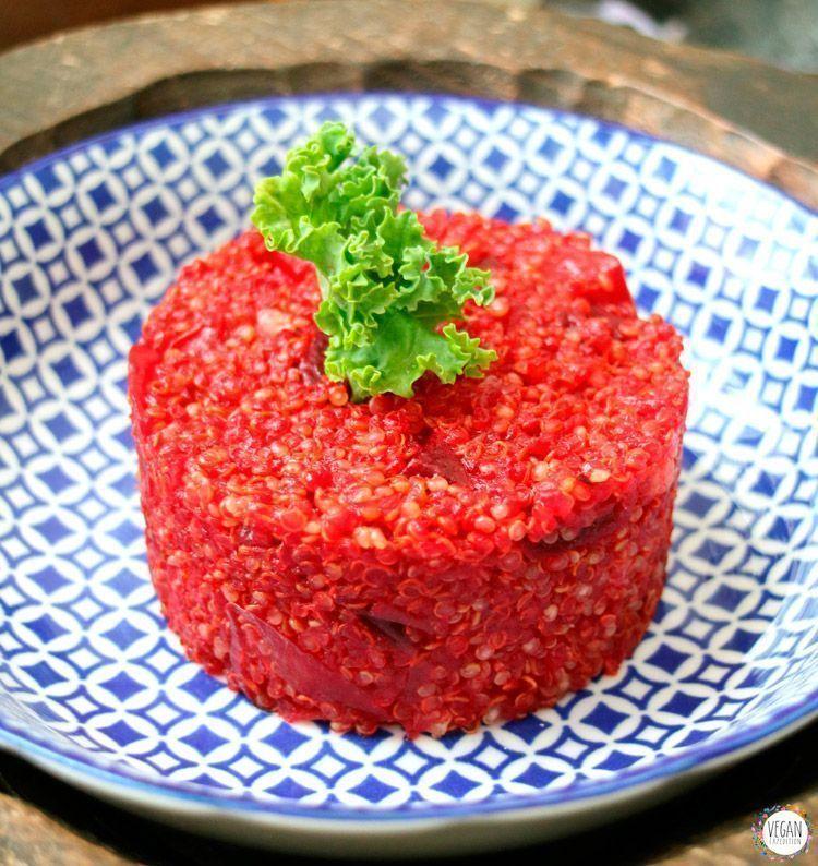 Tartar de quinoa y remolacha recetas veganas bueno y vegano alimentación vegana
