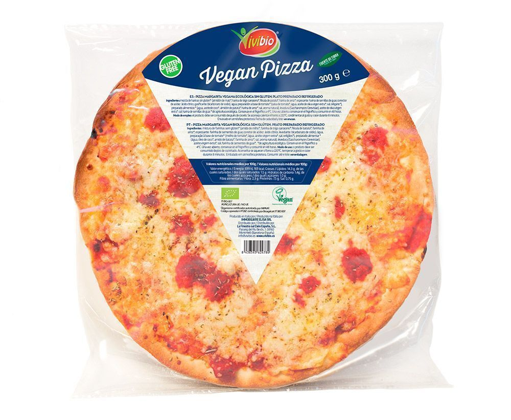 Pizza vegana ecológica sin gluten la finestra sul cielo vivibio