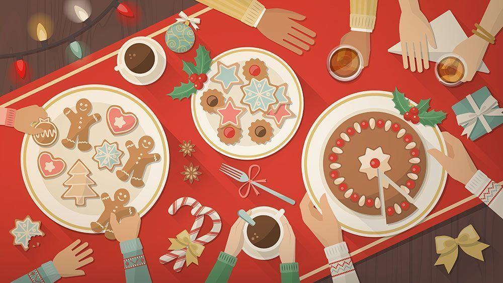 menú de navidad vegano