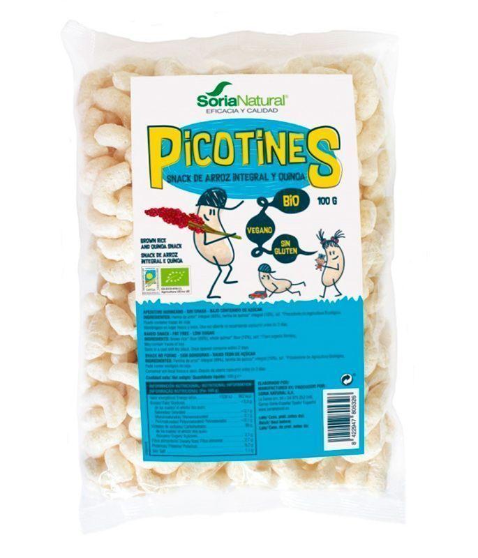 picotines snack de arroz integral y quinoa, de Soria Natural
