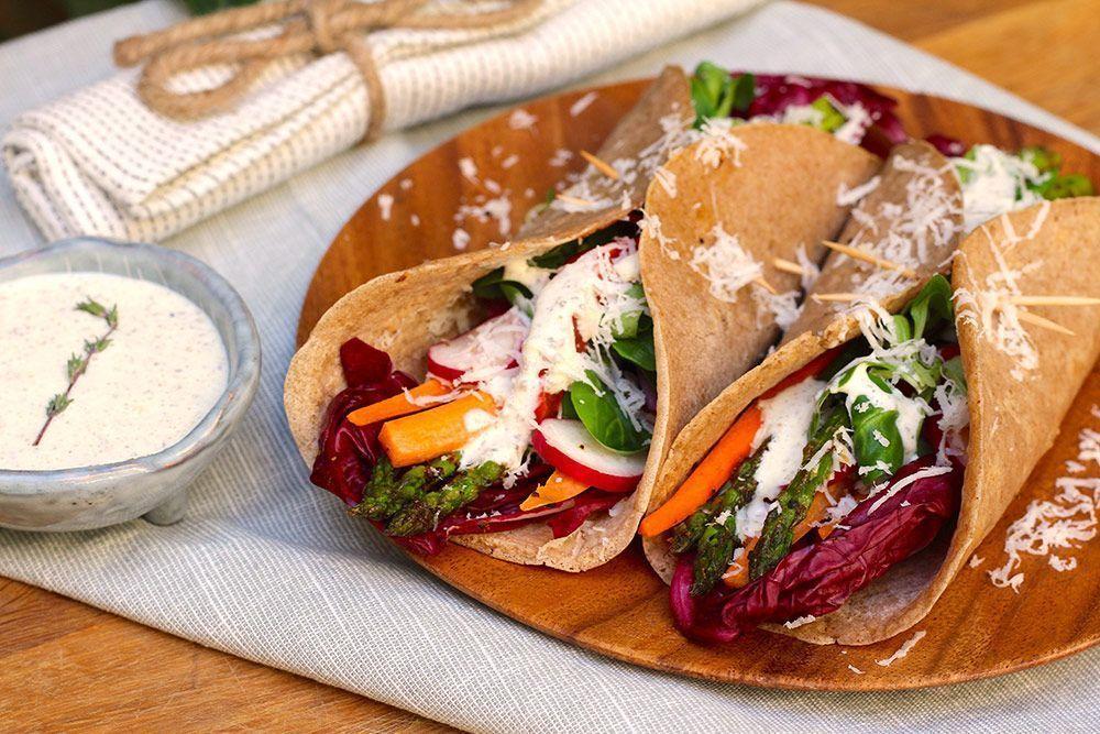 Crepes Bretonas Vegetales con Tomillo y Romero recetas veganas alimentación vegana