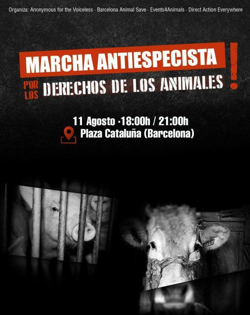 Marcha Antiespecista Barcelona 11 Agosto