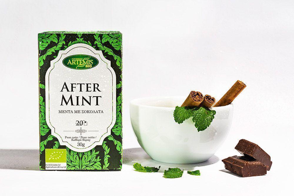 Aftermint BIO. Refrescante mezcla de cacao y menta, de Artemisbio
