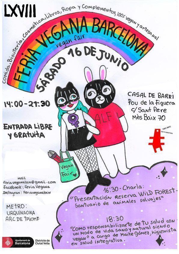 Cartel de Vegan Bunnies para la LXVIII Feria Vegana de Barcelona
