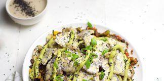 Nachos con seitan al estilo Japonés, ¡picantes y veganos!