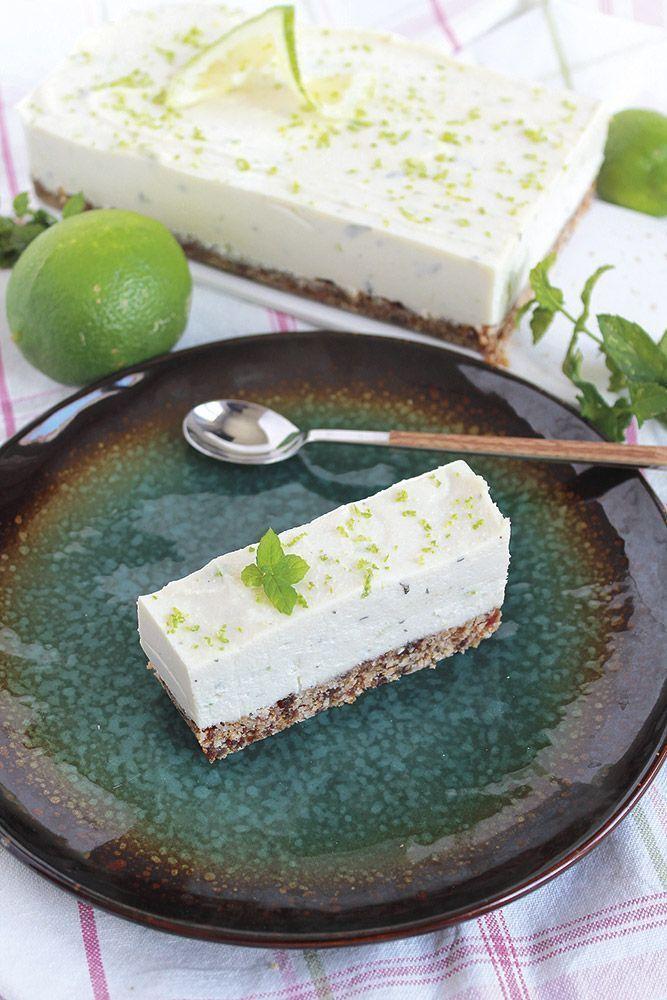 Receta: Tarta vegana de hierbabuena y lima