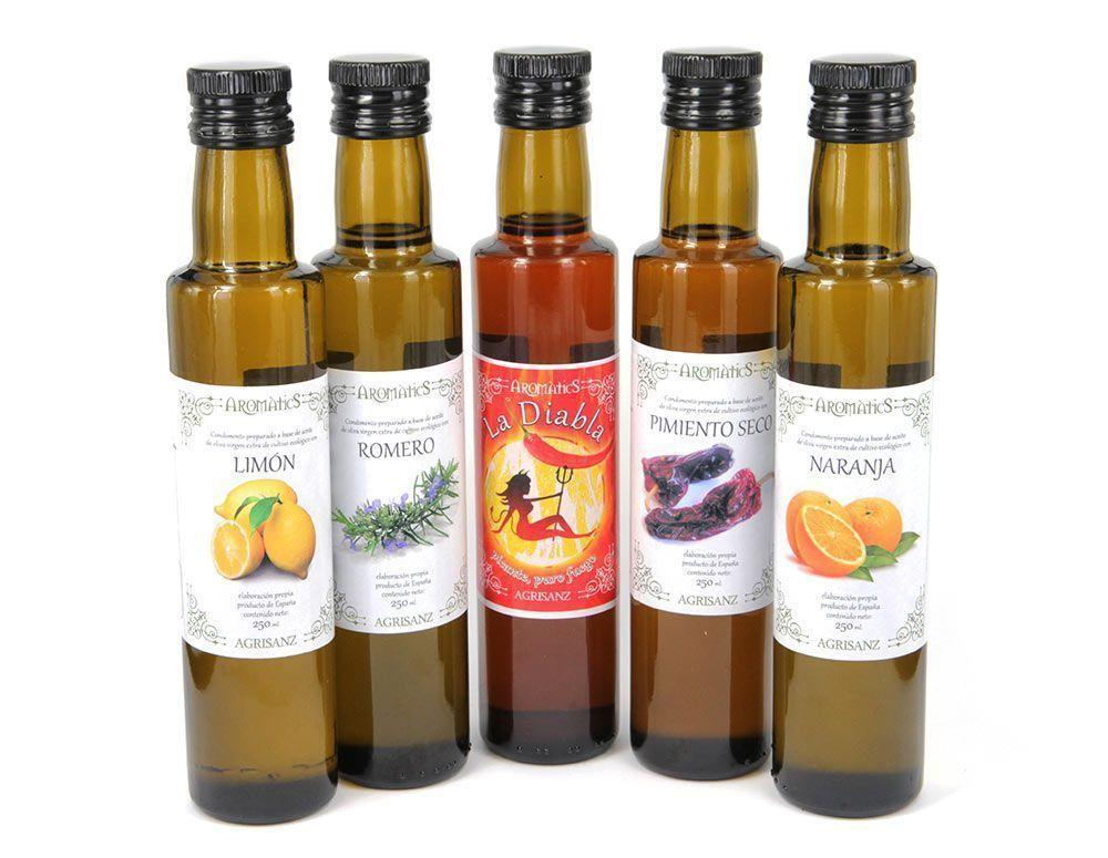 Condimento preparado a base de aceite de oliva virgen y boletus, de Agrisanz