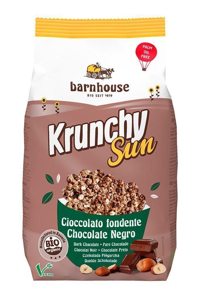 Krunchy ecológico de chocolate negro con avellanas, de Barnhouse