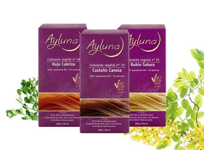 Colorantes capilares vegetales Bio, de Ayluna