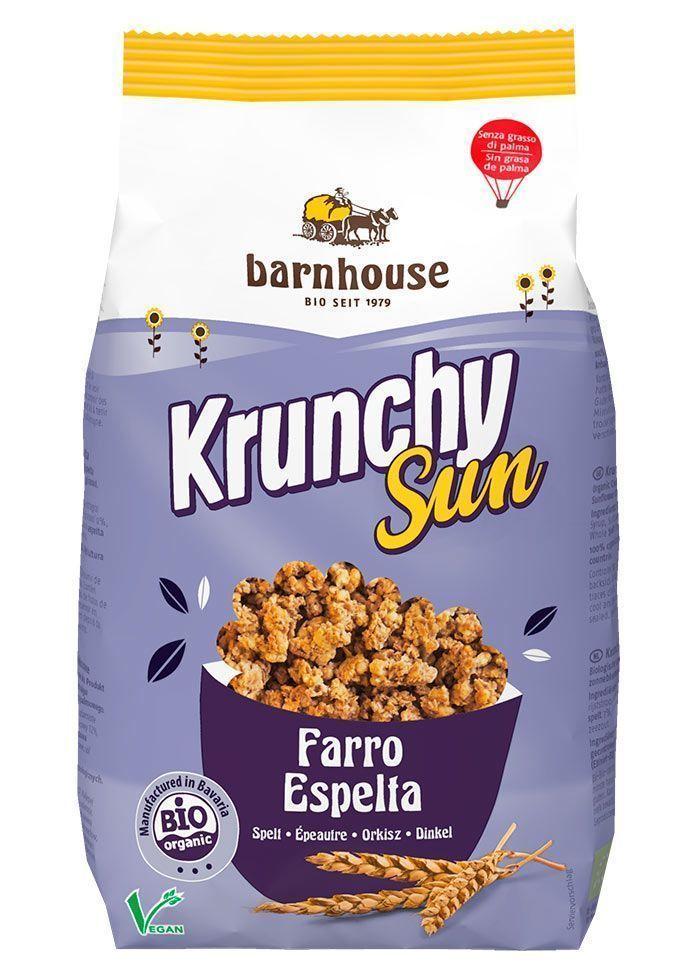 Delicioso Krunchy Sun vegano de Espelta, de Barnhouse