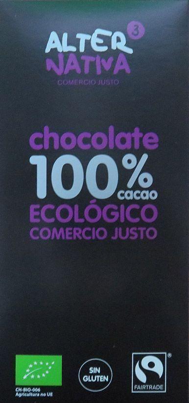 Nuevo chocolate ecológico 100% cacao, de Alternativa3