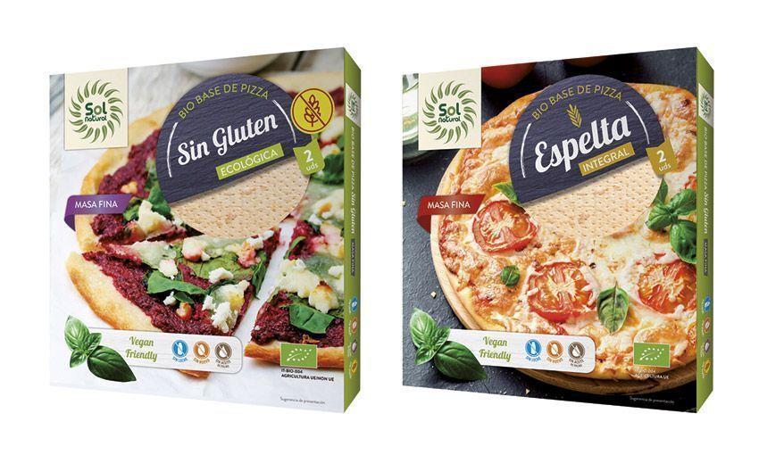 Bases de Pizza Ecológicas y Veganas, de Sol Natural