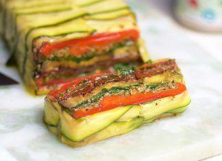 Terrine con verduras a la plancha