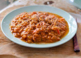 Chili de lentejas con soja