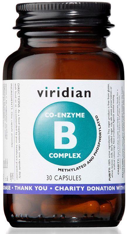 CO-Enzima B Complex. 30 caps vegetales, de Viridian