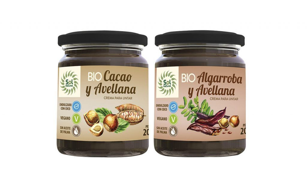 Cremas untables veganas y sin gluten, de Sol Natural