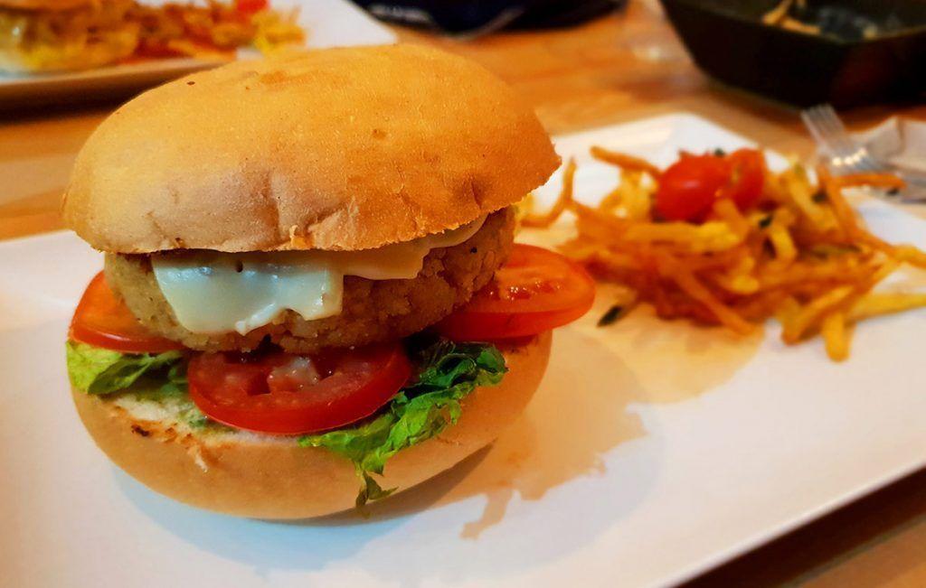 Melocotón Vegan Burger, el triunfo de la sencillez