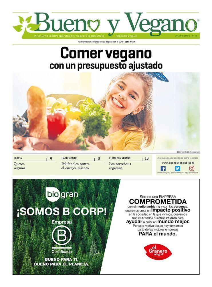 Bueno y Vegano Noviembre 2019 Prensa vegana independiente alimentación vegana veganismo