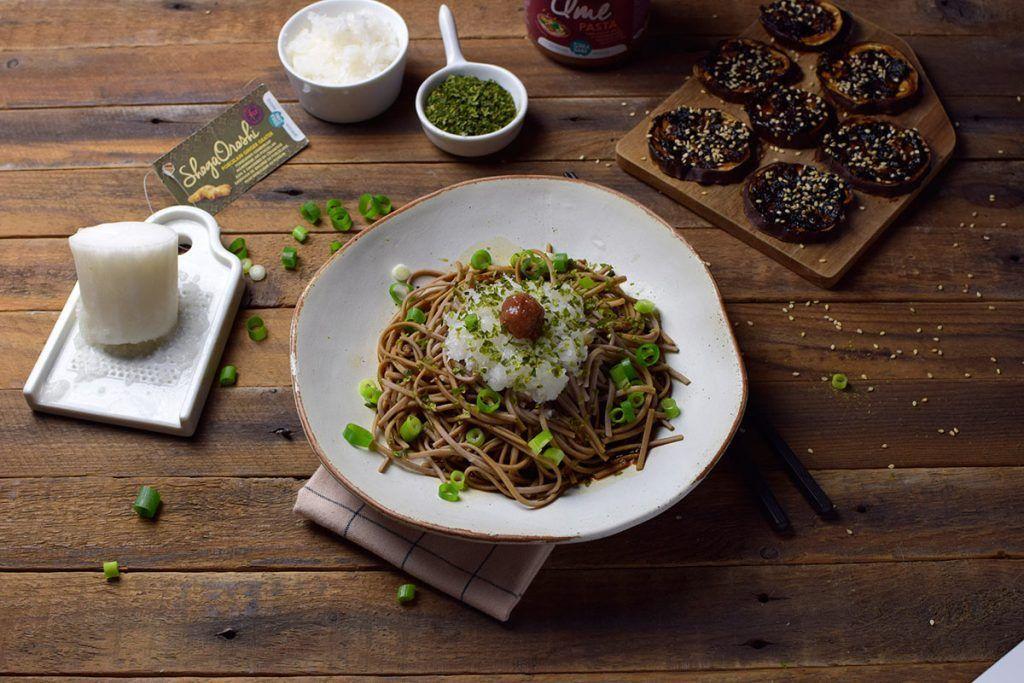 Receta: Oroshi soba (noodles con rábano blanco rallado)