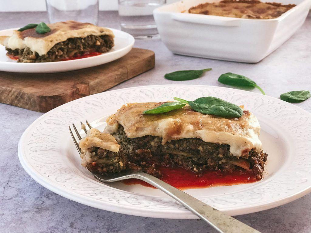 Receta: Lasaña vegana de espinacas, nueces y soja