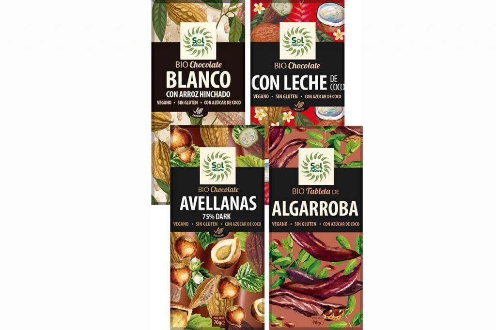 Chocolates Veganos y Sin Gluten: ¡nuevos sabores!, de Sol Natural