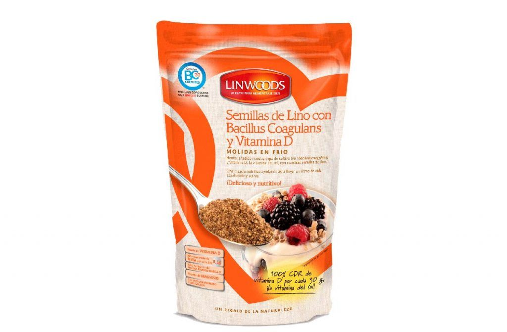 Semillas de lino con bacillus coagulans y vitamina D, de Linwoods