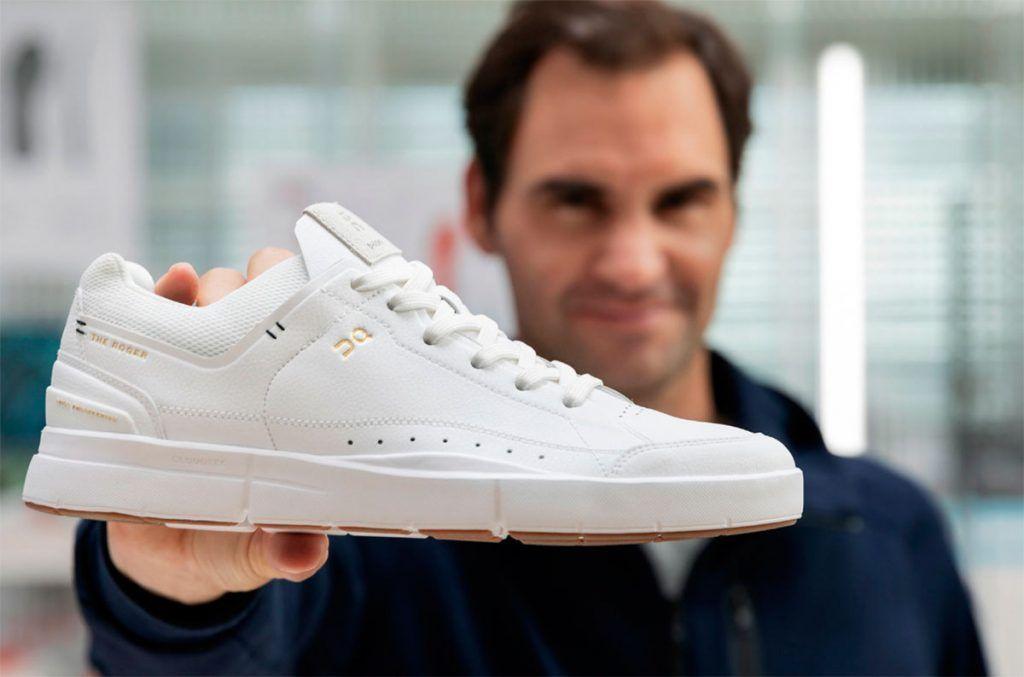 El tenista Roger Federer lanza zapatillas de deporte de cuero vegano