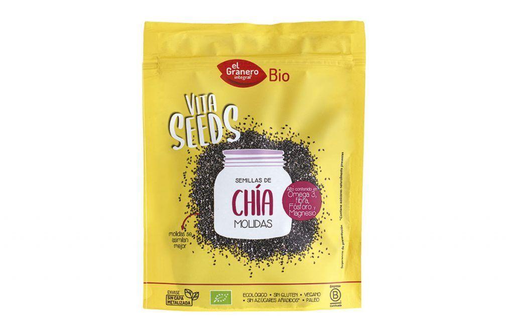Nueva Vitaseeds semillas de chía molidas, de El Granero Integral