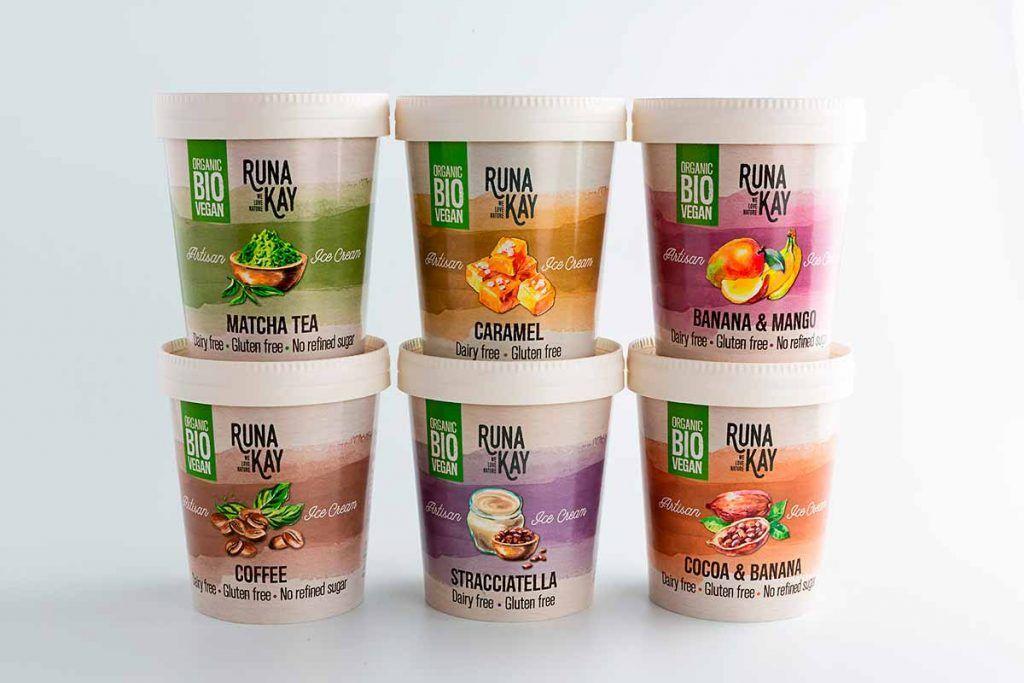 Runakay Plus lanza su gama de helados veganos, sin gluten, ni azúcares añadidos
