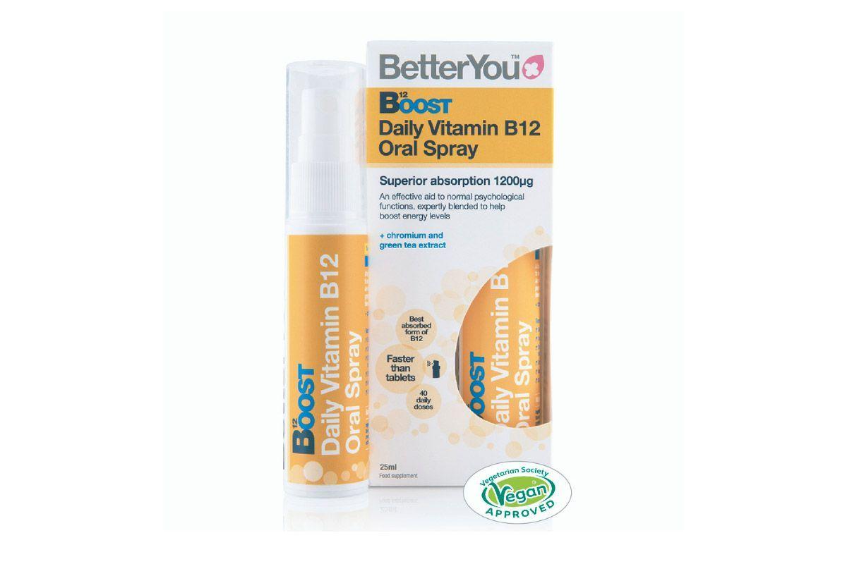 BOOST B12 Vitamina B12 en spray oral 25ml, de BetterYou