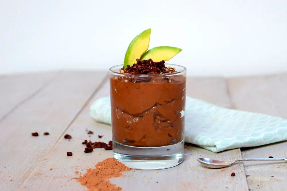 musse de chocolate y aguacate