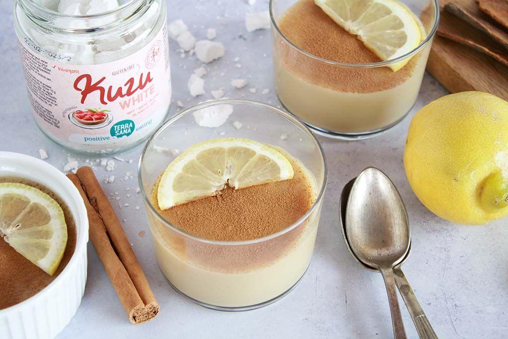 Receta: natillas veganas de limón y canela